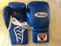 Free Shipping Winning Boxing Gloves 8-16oz Lace Up/hook & Loop Made In Japan