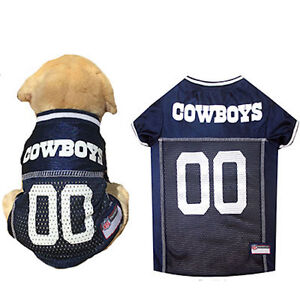 NFL Pet Fan Gear Dallas Cowboys Dog Jersey for Dog Dogs XS-2XL XXL ... 58b06089d