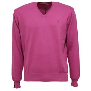Men Uomo V Cotton Bramante Pink Maglione Sweater 1259x neck n75p8wZPxq