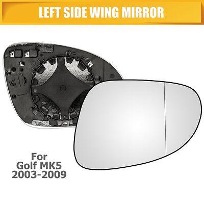 passenger side wing door clip on mirror glass Heated Left hand