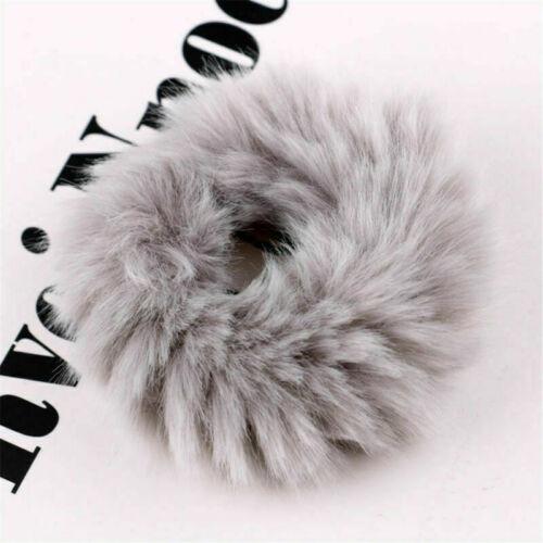 1PC Faux Fur Fluffy Scrunchie Elastic Hair Ring Rope Simple Soft Hair Accessory