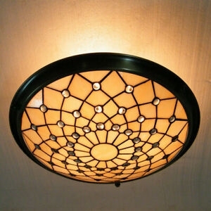 Tiffany Style Light Semi Flush Mount