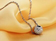 silver necklace pendant circle ball pendant women jewelry chain alloy gift bride