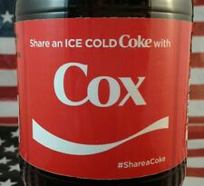 Share A Coke With Cox Limited Edition Coca Cola Bottle 2017 USA