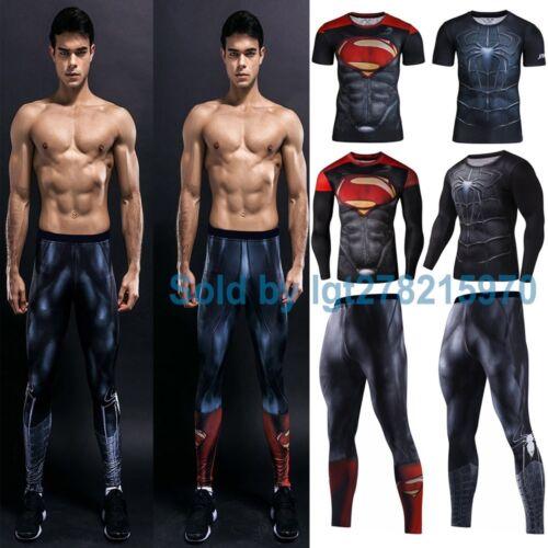 Super Hero Marvel T-shirt Long Sleeve Compression Sport 3D Men Fitness Cycling