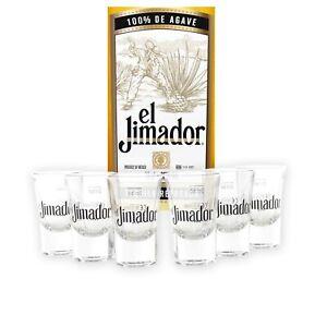 EL-JIMADOR-Glaeser-6er-Set-Tequila-Shot-Glas-Stamper-Pinnchen-geeicht-Likoer-Bar