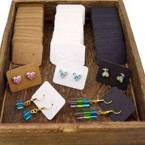 Details About Color Kraft Paper Blank Earring Cards For Jewelry Display Packaging Lot Of 100