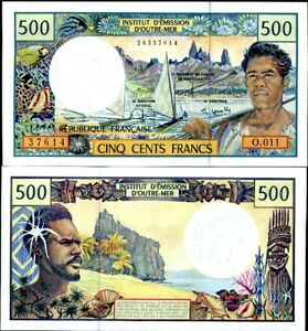 French Pacific Territories 500 Francs ND 1992 P 1 e UNC