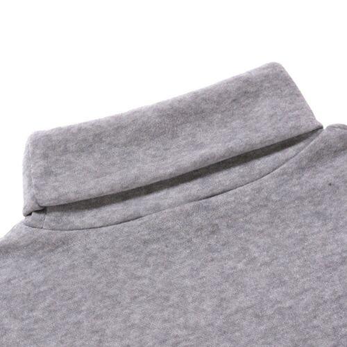 Herren Rollkragenpullover Langarm Solid Einfacher Warmer Pullover Stretchy Shirt