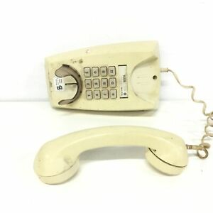 Retro Beige Wall Touchtone Telephone 80's/90's Hanging Push Button #209