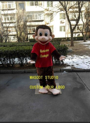 Details about  /2019 Monkey Mascot Costume Suit Cosplay Game Dress Outfit Advertising Halloween