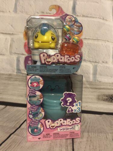 Toilet Pooparoos Surpriseroos Bundle Feed-Squeeze-Poop 1 Pooparoo Character
