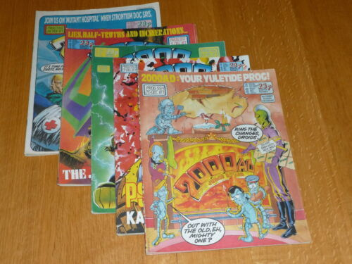 2000 AD Comic 5 PROG JOB LOT UK Paper Comic Progs 550 too 554 Inclusive