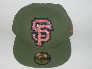 5e0b1809695d7 NEW ERA SAN FRANCISCO GIANTS RIFLE GREEN FITTED HAT CAP 7 1 4 ...