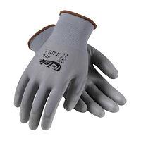 Pip 33-g125 G-tek Gray Knit Nylon Gloves With Polyurethane Grip (dozen)