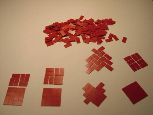 "DOLLS House flooring.dolls House Miniatures cava gamma.1 4 /""x 1//2/"" TASSELLI"