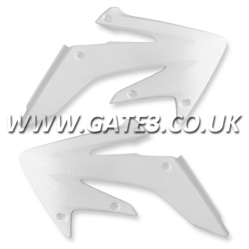 HONDA CRF250X CRF 250 X 2004-2014 WHITE RADIATOR RAD SCOOPS SHROUDS MX PLASTICS