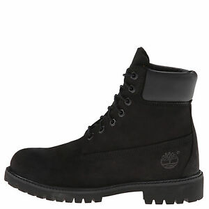 Timberland 6 Inch Premium Black Women s Waterproof Lace Up Boots ... 81aa6a9b07db