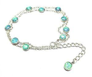 Fire-Opals-Natural-Gemstone-925-Sterling-Silver-Bracelet-7-8-034