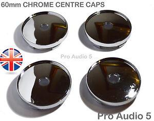 4x Chrome Centre Caps 60mm Alloy Wheel Vw Golf Audi Bmw