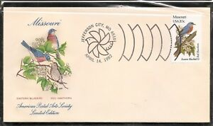 US-SC-1977-State-Birds-And-Flowers-Missouri-FDC-HF-Cachet