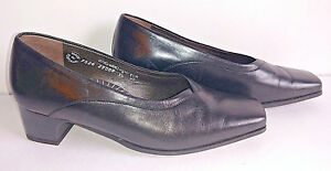 Shoes-MEPHISTO-AIR-RELAX-Slip-ons-Black-Leather-Womens-US-Size-6-5