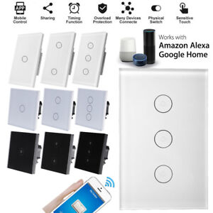F-ALEXA-Google-Home-APP-3Gang-WiFi-Smart-Panel-Touch-Switch-Remote-Control-Touch