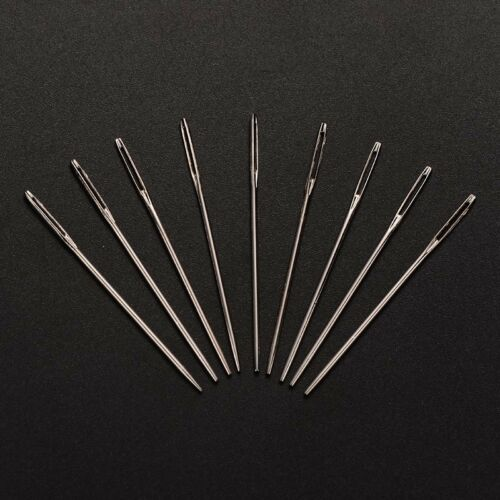 25PCS Iron Hand Sewing Needles For DIY Craft Sewing Making Platinum 48x1.3x0.8mm