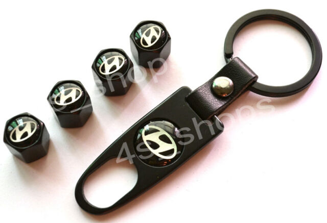 4 X Fancy Valve Tire Wheel Decorated Rim Caps + Wrench Keychain For Hyundai IX45