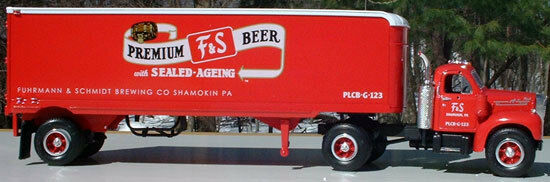 HUGE 14  LONG F & S PREMIUM BEER TRACTOR TRAILER BIG RIG - FIRST GEAR