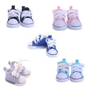 5cm Doll Accessory Lace Up Canvas Shoes Sneakers DIY Doll Decor for BJD Dolls