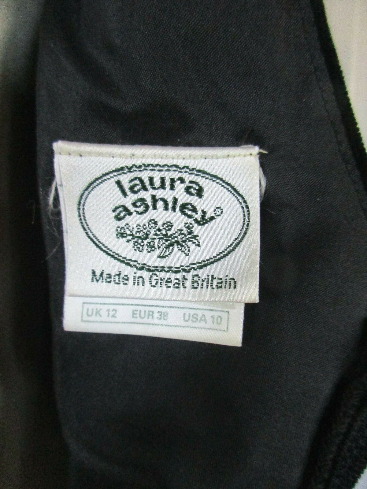 Vintage Laura Ashley Party Dress 1980s 1990s Blac… - image 5