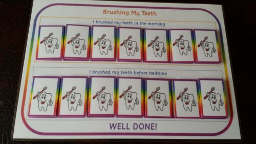 Lavarsi i denti-Promemoria//Reward Chart-SEN eyfs Autismo ADHD Demenza