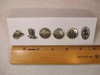 Western Sewing Buttons Metal Set Of 6 Buttons Italy See Full Listing