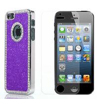 Bling Glitter Diamond Rhinestone Hard Case For iPhone 5 5S +Stylus