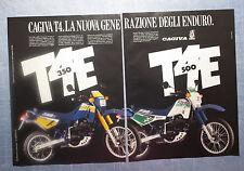 MOTOSPRINT987-PUBBLICITA'/ADVERTISING-1987- CAGIVA T4 E 350 + T4 E 500