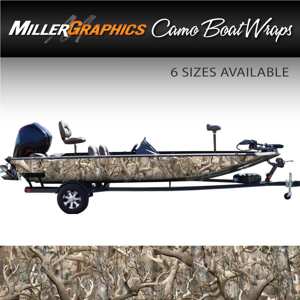 Camo Boat Wrap Kit  Obliteration  3M Cast Vinyl - 6 Sizes Available