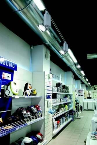 30W LED 3-Phasen Strahler für Schienensystem Stromschiene 230V 3000K 40°