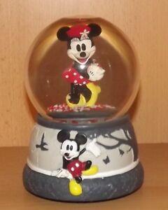 Disney-Minnie-Maus-Schneekugel-mit-Spieluhr-Melodie-ist-Sehnsuchtsmelodie
