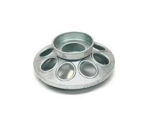 Brower MJ9 8-Hole Galvanized Mason Jar Feeder for Chicks and Small Birds