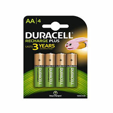 4 Duracell AA 1300 mAh PRE STAY CHARGE Rechargeable Batteries NiMH HR6 DC1500