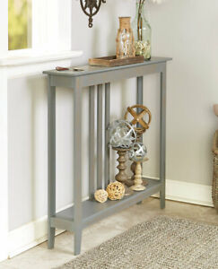 Slim-Space-Saver-Accent-Table-Wooden-Narrow-Hallway-Entry-Sofa-Storage-4-COLORS