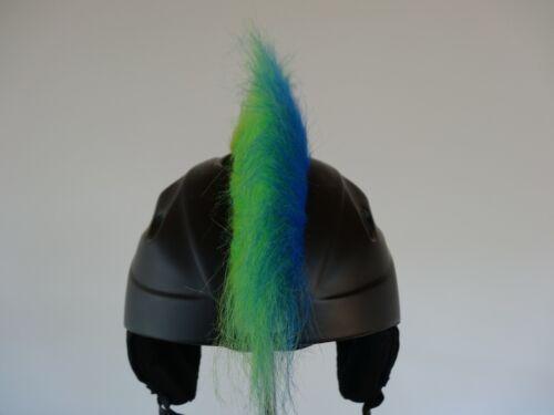 Helmirokese Skihelm Kinder Ski Iro Helmhaare NEU blau grün 2 farbig