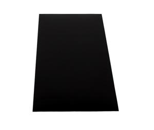 ABS Kunststoffplatte 1000x490mm-Schwarz-Stärken 1-2-3-4mm-Einseitige Schutzfolie