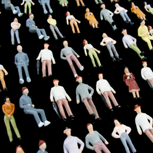 100 pcs. 172 Figures Diorama 172 Miniature Human Figures Standing People 176