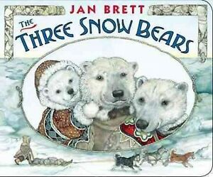 Three-Snow-Bears-Hardcover-by-Brett-Jan-Brand-New-Free-shipping-in-the-US