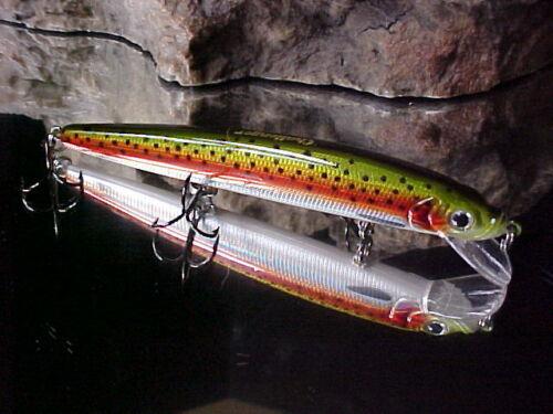"Bass//Walleye//Pickerel Challenger 4 1//2/"" Jerk Minnow EG033F071 Rainbow Metallic"