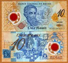 BRAZIL NOTE FOLDER 10 REAIS 2000 PK 248a UNC 500th Discovery Brazil POLYMER