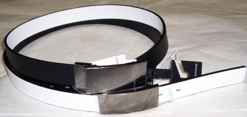 Hommes Réversible Noir//Blanc Ceinture en cuir taille 36 0010