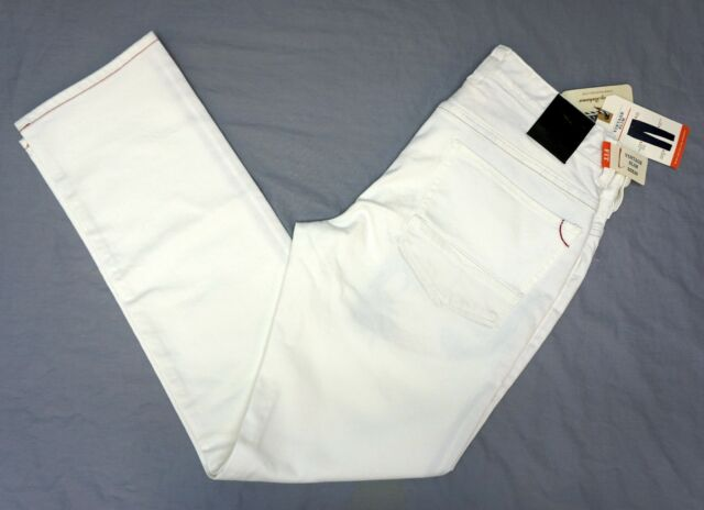 11face66 NWT $128 Tommy Bahama Jeans White Vintage Slim Caicos Mens 40 36 35 32 33 38